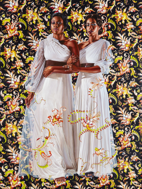 Kehinde Wiley (American, b. 1977). The Two Sisters, 2012. Oil on linen, 96 x 72 in. (243.8 x 182.9 cm).  Collection of Pamela K. and William A. Royall, Jr., courtesy of Sean Kelly, New York. © Kehinde Wiley. (Photo: Jason Wyche)